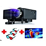 Lucem Portable 3D LED PROJECTOR+Three 3D Glasses + Three 3D Movies