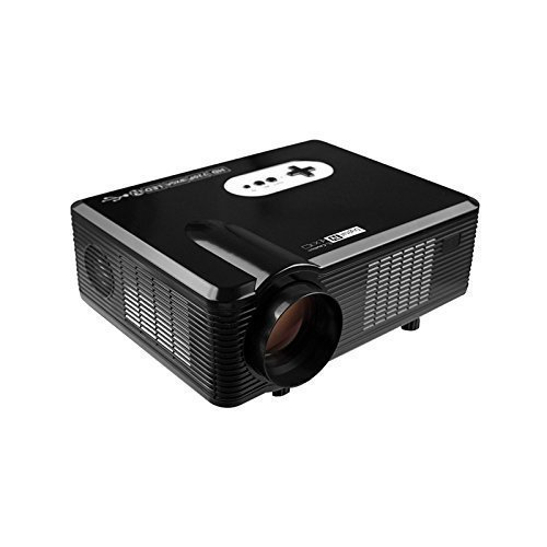 Fastfox Hd Projector Full Color 720p 3000 Lumens Analog Tv