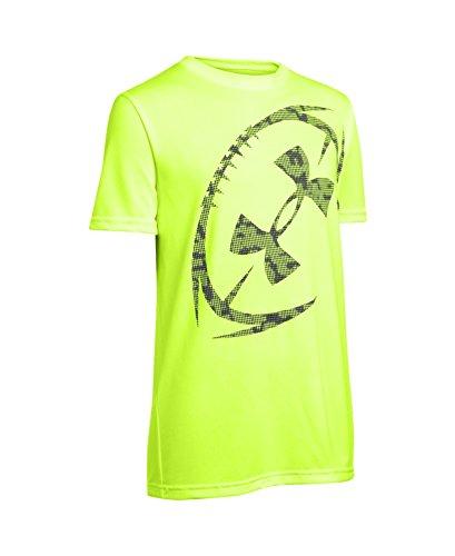 Under Armour Boys' UA Logo Football T-Shirt Small / 8 Big Kids FUEL GREEN