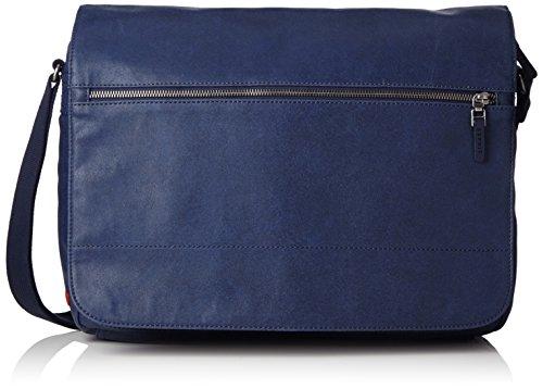 ESPRITmit praktischem Innenleben - Borsa a tracolla Donna , Blu (Blau (NAVY 400)), 45x30x8 cm (B x H x T)