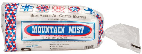 Mountain Mist Blue Ribbon Cotton Batting, Crib/Craft 45-inch-by-60-inch