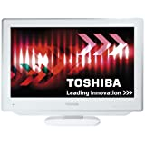 Toshiba 19DV714B 19-inch Widescreen HD Ready LCD TV/DVD Combi with Freeview - Whiteby Toshiba