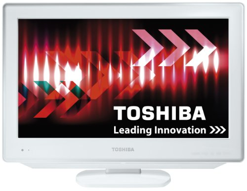 Image of Toshiba 19DV714B 19-inch Widescreen HD Ready LCD TV/DVD Combi with Freeview - White