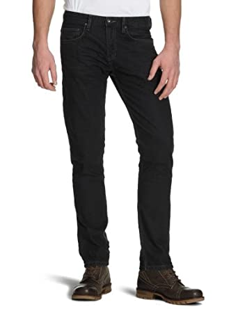 TOM TAILOR Denim Herren Jeans 60170190012/black grey skinny denim, Gr. 33/34, Blau (1056)