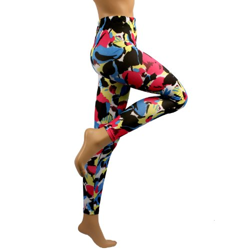 Modern Art Multi Color Leggings Stretch