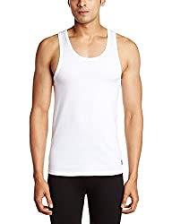 SRJLS Mens Cotton Vest (AB-L_White_L)