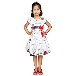 Hawai White & Red Girl Frock