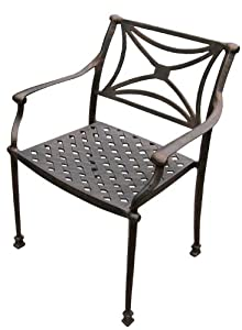 "American Trading Company ND AC AB Director Stackable Antique Bronze Powder Coated Cast Aluminum Arm Chair, 20-1/2"" Width x 35"" Height x 19-19/64"" Depth (Pack of 4) from American Trading Company"