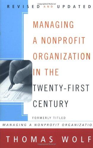 Managing a Nonprofit Organization in the Twenty-First...