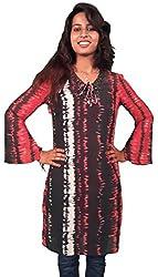 Miraaya Women's Tunic (M2568C_100140_Red_Medium)