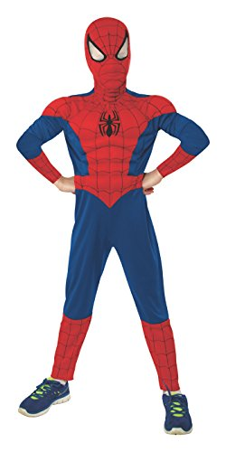 Rubie's Marvel Ultimate Spider-Man Deluxe Muscle Chest Costume, Child Medium - Medium One Color