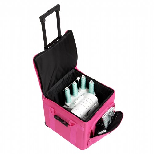 Creative Notions Xl Serger Trolley In Pink front-282481