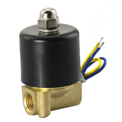 """Gadgetzone (Us Seller) Electric Signal Solenoid Valve 12V Dc 1/4"""" Medium Pipeline On-Off Automation Components Industrial Process Automation Control Systems Actuator"""