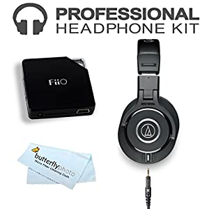 Audio-Technica ATH-M40x Professional Monitor Headphones (New 2014 Model) with FiiO E6 Headphone Amplifier