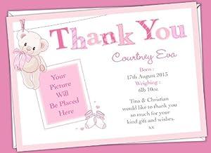 d l designs ltd dankeskarte mit englischem text als dankesch n f r neugeborene babys mit. Black Bedroom Furniture Sets. Home Design Ideas