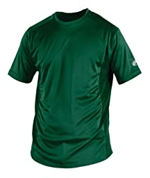 Rawlings Men\'s Short Sleeve Baselayer Shirt, Dark Green, Small
