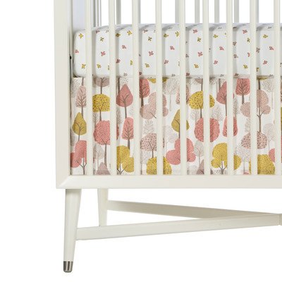 Dwellstudio Percale Crib Skirt, Treetops