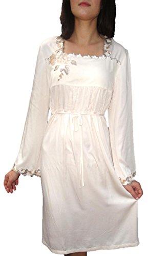 Fleur De Lis Naturals Women'S Cotton Night Dress Sleepwear Xl Cream