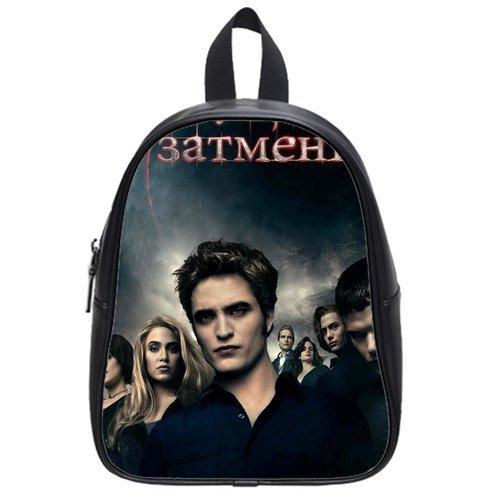 JIUDUIDODO Custom Twilight PU Leather School Bags Backpacks Outdoor Bags