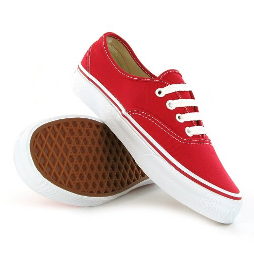 Vans Classic Authentic Red Mens Trainers Size 11 US