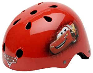 Cars McQueen Hardshell Bicycle Helmet and Protective Pad Value Pack (Toddler)
