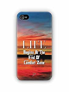 YuBingo Life Begins at the end of Comfort Zone Designer Mobile Case Back Cover for Apple iPhone 4S