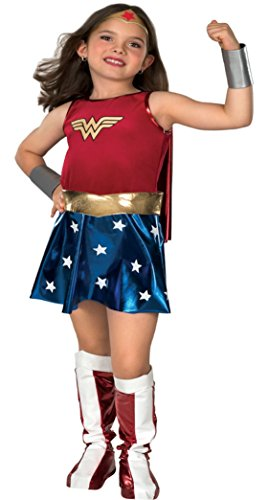 Girls Wonder Woman Kids Child Fancy Dress Party Halloween Costume