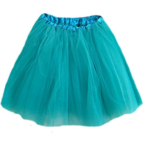 Southern Wrag Company Big Girls Long Tutu Turquoise Waist 18-36 Length 16-17
