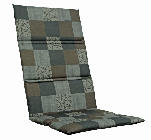 Kettler 0309016-8713 Recliner Chair Cushion 170 x 50 x 3 cm for Fabric-Backed Aluminium Garden Furniture Brown / Mocha