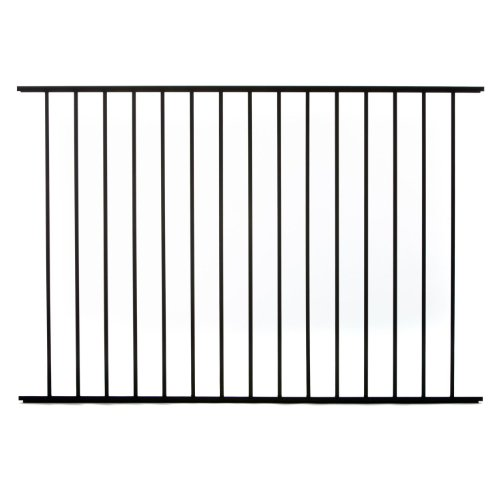 Specrail DIY Fence RR9482BL Bethany Aluminum 2-Rail Fence Panel, 48-Inch by 6-Feet (Rail Fence Panel compare prices)