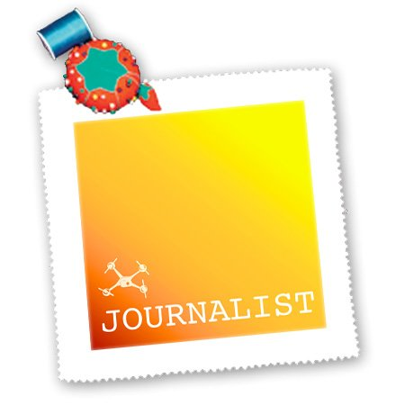 Qs_179882_3 Kike Calvo Drone And Unmanned Vehicle Collection - Red Orange And Yellow Drone, Journalist And Photographer - Quilt Squares - 8X8 Inch Quilt Square