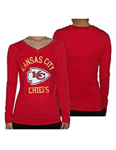 Ladies NFL Kansas City Chiefs Slim Fit Long Sleeve Shirt by Pink Victoria