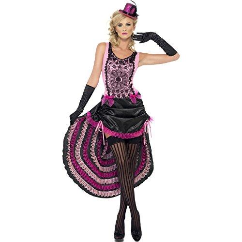 Burlesque Beauty Kostüm pink Damen Western Saloon Tänzerin Gr. M