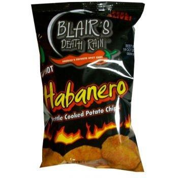 Blair's Death Rain Habanero Chips 43g - Höllisch scharfe Knusperchips - absolute Suchtgefahr!
