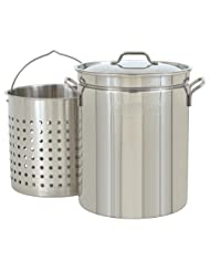 Bayou Classic 1144 44-Quart All Purpose Stainless Steel Stockpot with Steam and Boil... by 