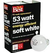 GE Private Label 90859 Do it Halogen Light Bulb-53W 4PK SOFT WHITE BULB
