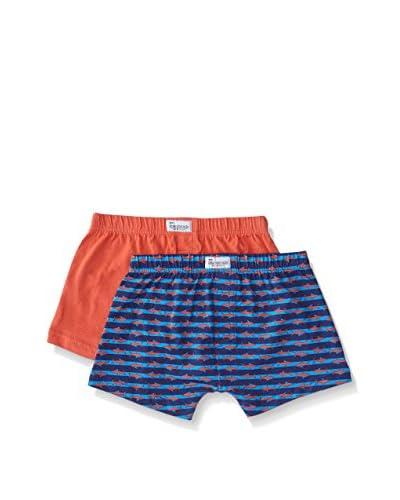 Abanderado Pack x 2 Bóxers Azul / Naranja