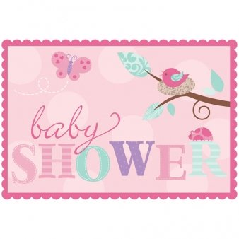 Tweet Baby Invitations (8) Invites Pink Girl Shower Bird Chick Party