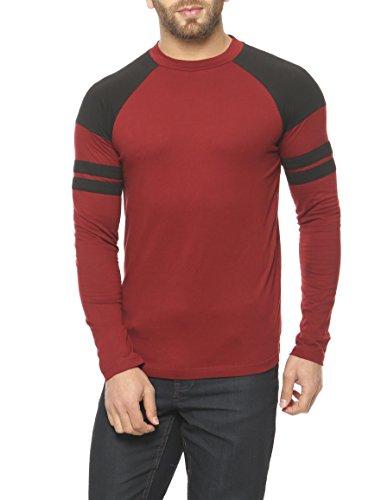 Gritstones-MaroonBlack-Full-Sleeve-Round-Neck-T-Shirt