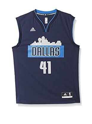 adidas Camiseta sin mangas Dallas Mavericks Nowitzki (Azul Marino)