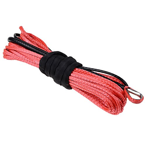 316-x-50-RED-5400-Lbs-Protect-Anti-Slip-Synthetic-Fiber-Winch-Rope-Cable-Universal