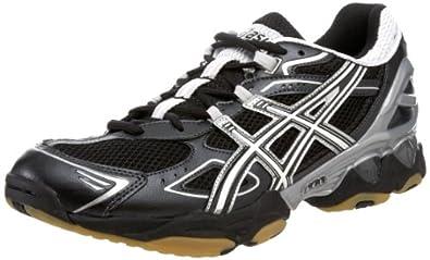 ASICS Men's GEL-Volleycross 3 Volleyball Shoe,Black/White/Silver,6 M US