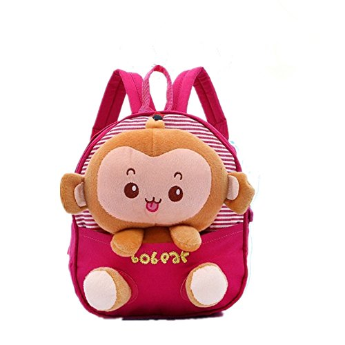 Generic Kids Gift Ideas for Kids Boys Girls Canvas School Bag Animal Cartoon Backpack Satchel School Book Bag (Rose red) - 1