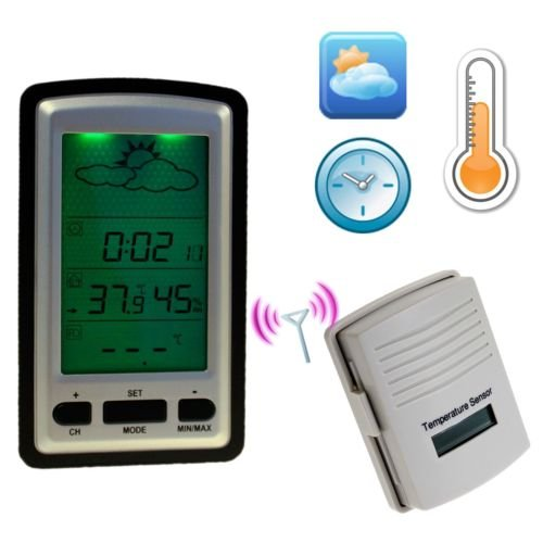 Weatherspy Wsc-11, A Multi-Function, Wireless Weather Station- Indoor Outdoor Thermometer - Digital Hygrometer-Barometer- Digital Alarm Clock-Electronic Calendar. A Digital Weather Station With Indoor Humidity Monitor And Indoor Outdoor Temperature Clock