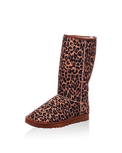 Los Ojo's Botas de invierno Leopardo