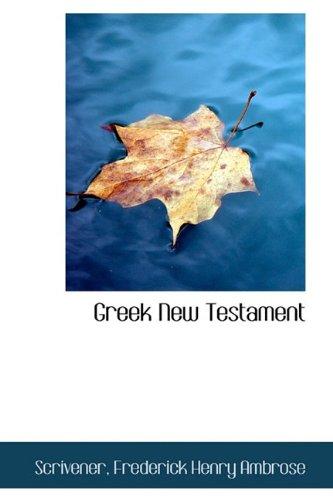 Greek New Testament111103754X : image