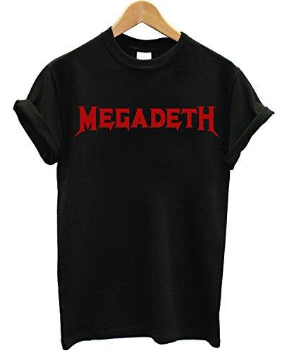 T-shirt Uomo - Megadeth maglietta con stampa 100% cotonee LaMAGLIERIA,XL, Nero