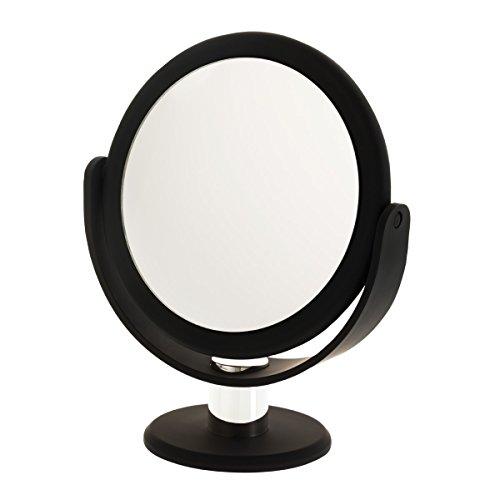 Danielle Enterprises Soft Touch 10X Magnification Round Vanity Mirror, Black front-234786