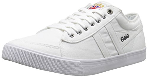 Gola Men's Comet Canvas Fashion Sneaker, White, 13 UK/13 M US