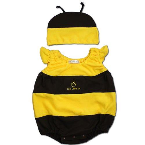 【帽子付 ハチ ロンパース 着ぐるみ】80cm ベビー コスチューム きぐるみ キグルミ